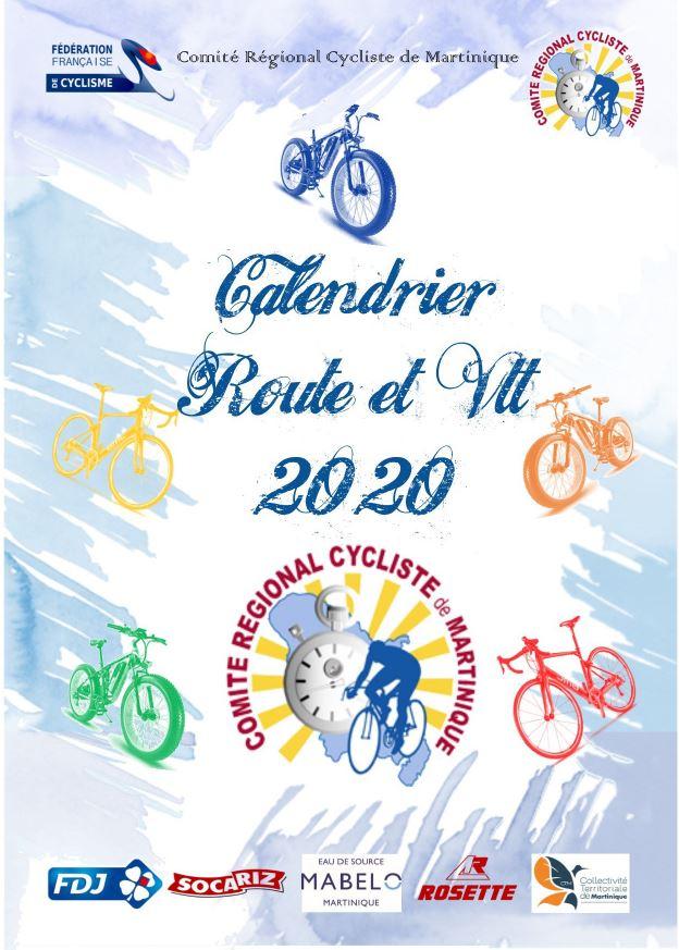 Calendrier Route/VTT 2020 | COMITE REGIONAL CYCLISTE DE MARTINIQUE